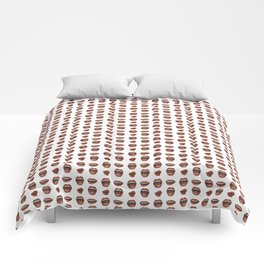 Loose Lips (on Graphic White Background) Comforters