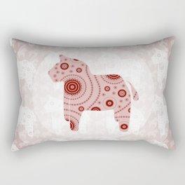 Toy Horse Pattern Rectangular Pillow