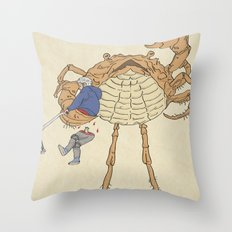 SCALLY CRAB Throw Pillow