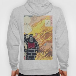 Moon and Smoke , Japanese Firefighter Hoody