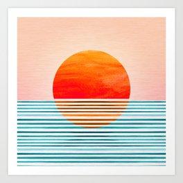 Minimalist Sunset III Art Print