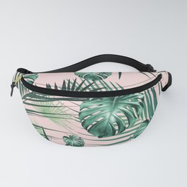 Tropical Jungle Leaves Garden #2 #tropical #decor #art #society6 Fanny Pack