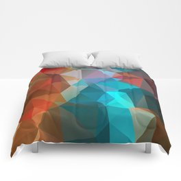 Abstract bright background of triangles polygon print illustration Comforters