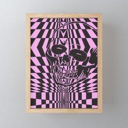 Shreddin' Skull Framed Mini Art Print