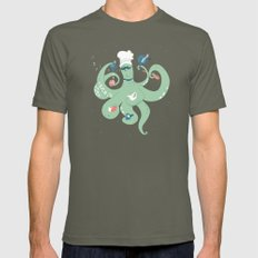 The Octopus Chef Lieutenant MEDIUM Mens Fitted Tee