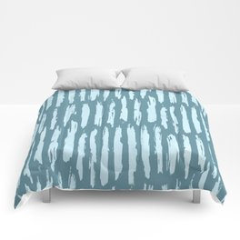 Vertical Dash Turquoise on Teal Blue Comforters