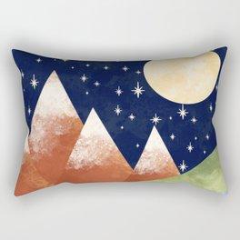 Full Moon In The Mountains Rectangular Pillow