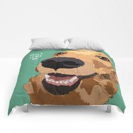 Golden Retriever-Don't leave me! Comforters