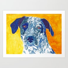 Party Dog Art Print