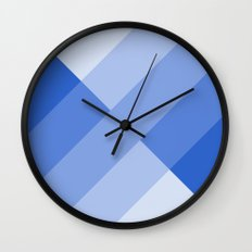 Blue and white angled Gradient Wall Clock