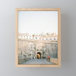"Travel photography ""Entrance Eivissa Ibiza"" | Printable photo art Spain Framed Mini Art Print"