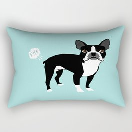 Boston Terrier funny fart dog pure breed gifts dog lovers Rectangular Pillow