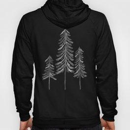 Pine Trees – Black Ink Hoody