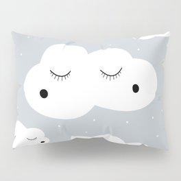 clouds and dots Pillow Sham