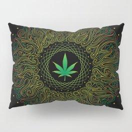 Magic plant. Marijuana leaf. mandala Pillow Sham