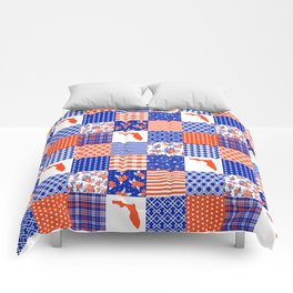 Florida University gators swamp life varsity team spirit college football quilted pattern gifts Comforters