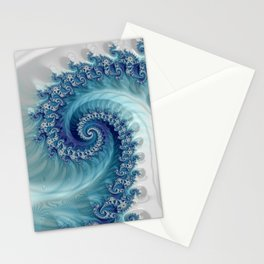 Sound of Seashell - Fractal Art Stationery Cards