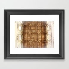 Wooden church ceiling  Framed Art Print