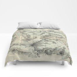 Vintage Map of Mount Everest (1921) Comforters