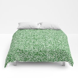 Spacey Melange - White and Dark Green Comforters