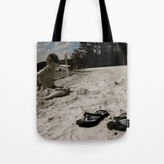 Dylan White Tote Bag