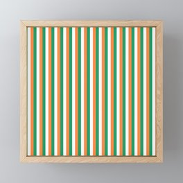 Irish Tricolour Vertical Stripes Green Orange and White Irish Flag Framed Mini Art Print