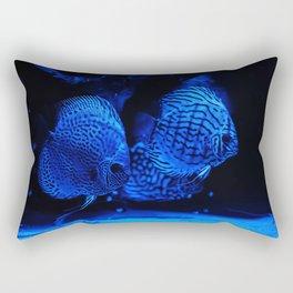 Aquarium fishes in blue light. Rectangular Pillow