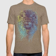 Lion King Tri-Coffee LARGE Mens Fitted Tee