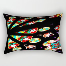 Day 28: Today for Me!  Stained glass from inside the old Unitarian church, in SF. Rectangular Pillow