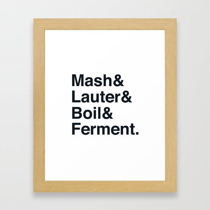The Brewing Process Framed Art Print