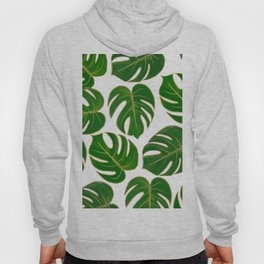 Modern hand painted green faux gold monster leaves Hoody