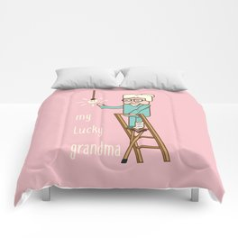 My lucky grandma Comforters