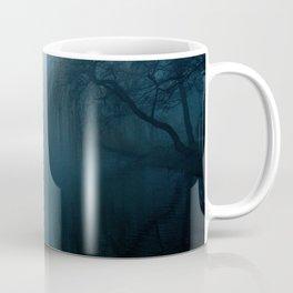 The Fog Dark Nature Tree Landscape Twilight Blue Coffee Mug