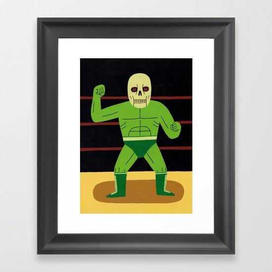 The Glowing Skull Framed Art Print