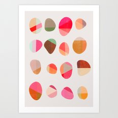 Painted Pebbles 5 Art Print