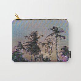Analogue Glitch Palm Trees Sunset Carry-All Pouch