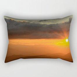 Fiery Sunset in the Blue Ridge Mountains * Rumi's muse Rectangular Pillow