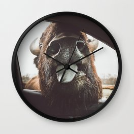 Bison Wassup Wall Clock