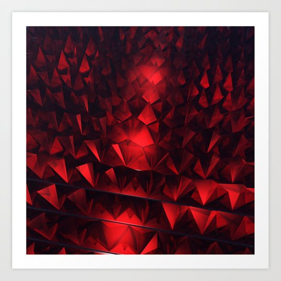 Ruby Abstract Art Print
