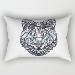 Psychedelic Wolf Rectangular Pillow