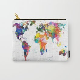 world map political watercolor 2 Carry-All Pouch