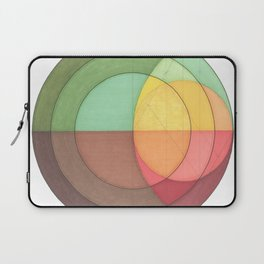 Concentric Circles Forming Equal Areas Laptop Sleeve