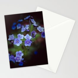Luminous Forget Me Nots Stationery Cards