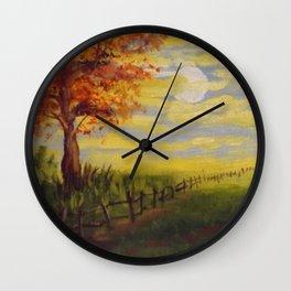 Summer's Sunset Wall Clock