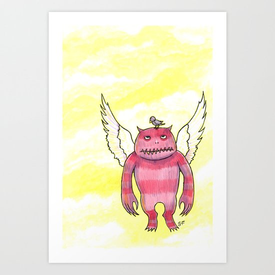 Annoying Bird Art Print
