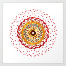 Radial Six Art Print