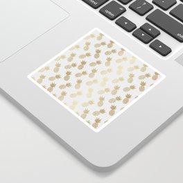 Gold Pineapple Pattern Sticker