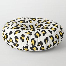 Leopard Print - Mustard Yellow Floor Pillow