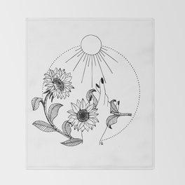 The Sun Throw Blanket