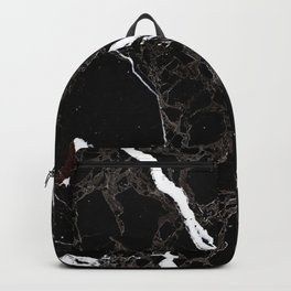 Abstract black white gray modern marble Backpack